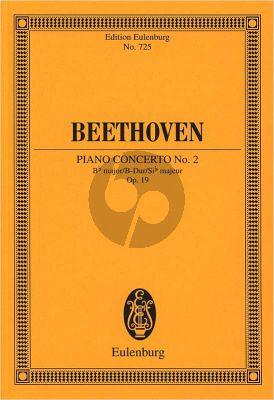Beethoven Concerto No.2 Op.19 B-flat major Piano-Orchestra Study Score