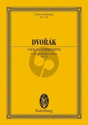 Dvorak Konzert a-moll Op.53 Violine-Orchester Studienpartitur