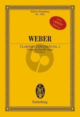 Weber Concerto No.2 E-flat major Op.74 (WeV N.13) Clarinet-Orchestra Study Score