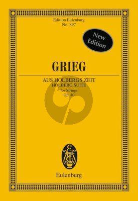 Aus Holbergs Zeit Op.40 Study Score