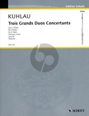Kuhlau 3 Grands Duos Concertantes Op.87 fur 2 Floten