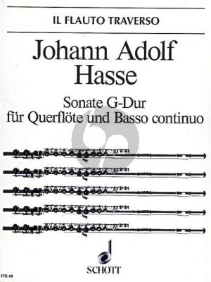 Hasse Sonate G-dur Flöte[Ob./Vi.]-Bc (edited by Hugo Ruf)
