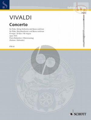 Concerto D-major Op.10 No.3 (PV 155 /RV 428) (Il Gardellino) (Flute-Str.-Bc.)