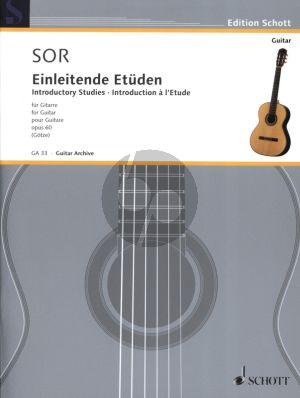 Sor Einleitende Etuden Op.60 fur Gitarre (Hrausgegeben von Walter Gotze)