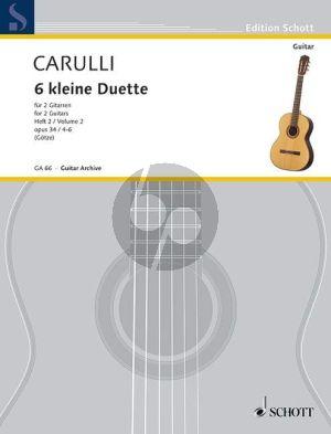 Carulli 6 Little Duets Op.34 Vol.2 2 Guitars (Walter Götze)