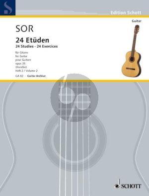 24 Leichte Etuden Op.35 Vol.2 No. 13 - 24 Gitarre