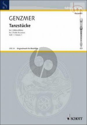 Genzmer Tanzstucke Vol. 1 GEWV 267 2 Altblockflöten (easy level)