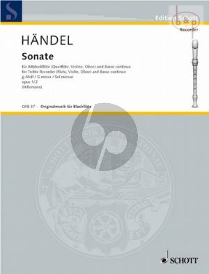 Sonate g-moll Op.1 No.2 HWV 360