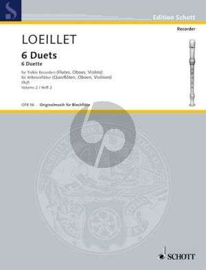 6 Duets Op.5 Vol.2 (No.4 - 6) 2 Treble Recorders