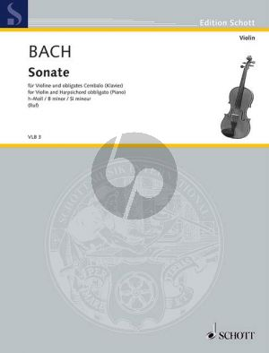 Bach Sonata B-minor WQ 76 Violin-Bc (edited by Ruf) (Grade 4-5)