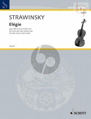 Elegy for Viola or Violin Solo