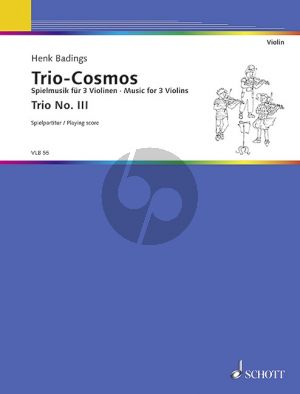 Badings Trio Cosmos No.3 3 Violinen (Spielpartitur)