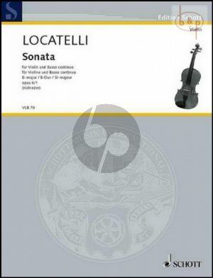 Sonata B-flat major Op.6 No.1 (Vc. ad lib.)