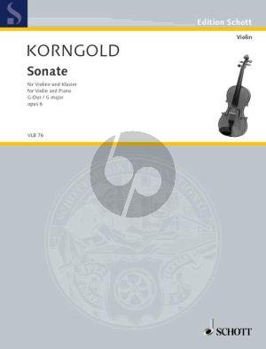 Korngold Sonata G-major Op.6 Violin-Piano