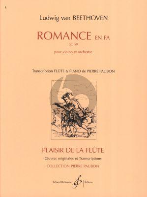 Beethoven Romance F-major Op.50 Flute et Piano (Arrangeur Pierre Paubon)