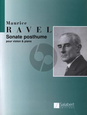 Ravel Sonate Posthume (1897) Violon et Piano