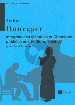 Honegger Melodies et Chansons Integrale Chant-Piano