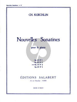 Nouvelle Sonatine Op. 87 No. 3 Piano