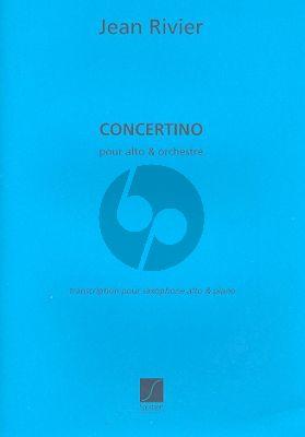 Rivier Concertino pour Saxophone alto et Piano (avec partie de Saxophone alto)