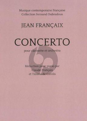 Francaix Concert Clarinette et Orchestre (red. piano) (1968)