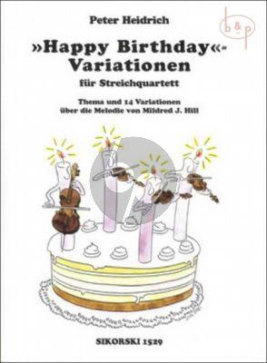 Variationen Happy Birthday 2 Violinen-Viola-Violoncello