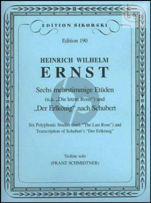 6 mehrstimmige Etuden Violine