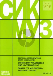 Sonate d-moll Op.40 Violoncello-Klavier