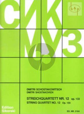 Shostakovich Streichquartett No.12 Op.133 Des-dur Stimmen