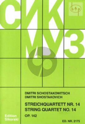 Shostakovich Streichquartett No.14 Op.142 Fis-dur Stimmen