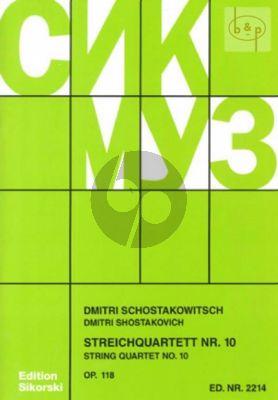 Shostakovich Streichquartett No.10 Op.118 As-dur Stimmen