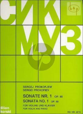 Sonata No.1 f-minor Op.80 Violin-Piano