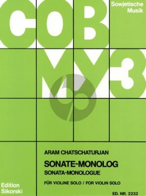 Khachaturian Sonate-Monolog Violine solo