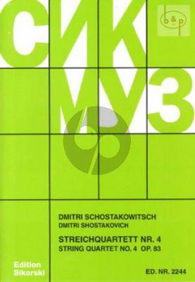 Streichquartett No.4 Op.83 D-dur Stimmen
