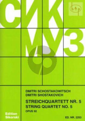 Streichquartett No.5 Op.92 B-dur Stimmen