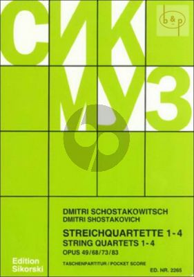 Streichquartette No.1 - 4 Studienpartitur