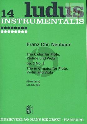Trio C-major Op.3 No.3 (Flute-Violin-Viola)