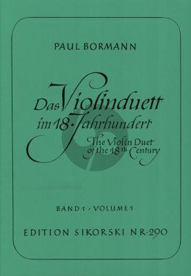 Das Violinduett im 18 Jahrhundert Vol. 1