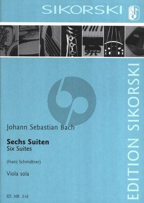 Bach 6 Suiten Viola solo (bearbeitet von Franz Schmidtner)