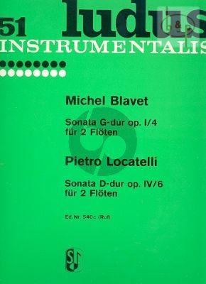 Sonata G-major Op.1 No.4 and Locatelli Sonata D-major Op.4 No.6
