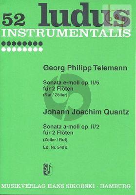 Sonate e-minor Op.2 No.5 with Quantz Sonata A-major Op.2 No.2