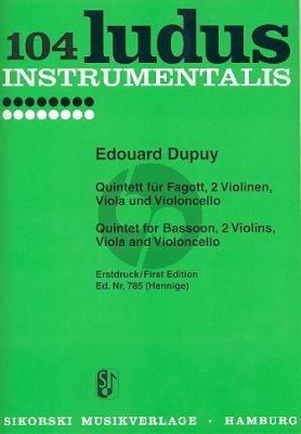 Dupuy Quintett Fagott-2 Vi.-Va.-Vc. (Stimmen) (Henninge)