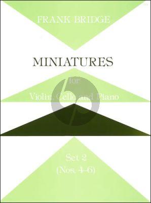 Bridge Miniature Trios Set 2 Violin-Cello and Piano (No.4 - 6)