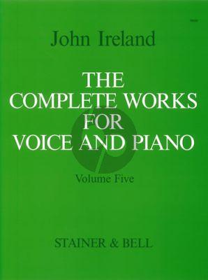 Ireland Complete Works Vol. 5 Medium Voice and Piano