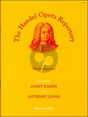 Handel Opera Repertory Vol.1 Mezzo-Soprano (Compiled by Janet Baker and Anthony Lewis)