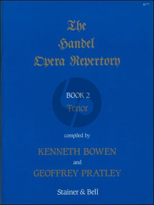 Handel Opera Repertory vol.2 Tenor (Kenneth Bowen and Geoffrey Pratley)