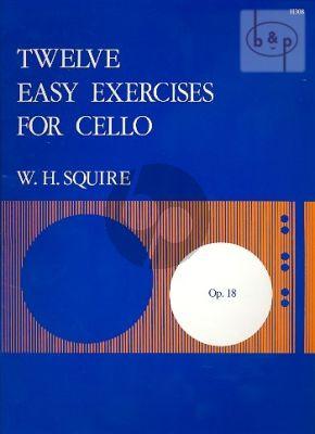 12 Easy Exercises Op.18 Violoncello