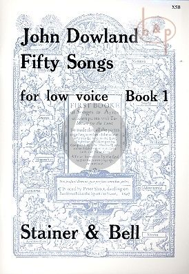 Dowland 50 Songs vol.1 Low Voice (Fellowes-Scott)