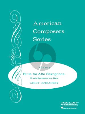 Ostransky Suite for Alto Saxophone and Piano