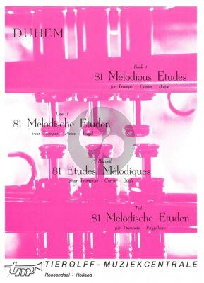 81 Melodische Etudes Vol.1 Trompet