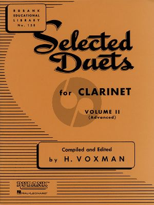 Voxman Selected Duets for Clarinet Vol.2 (Advanced)